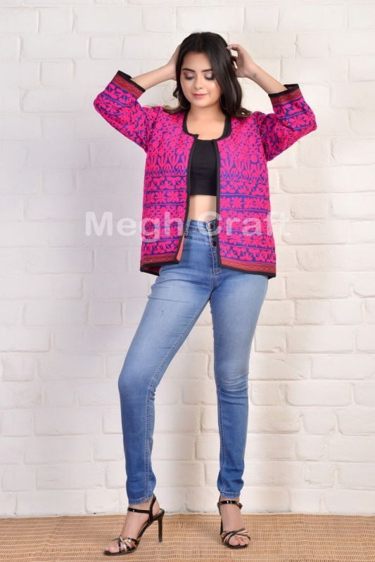 Pink Embroidery Banjara Jacket