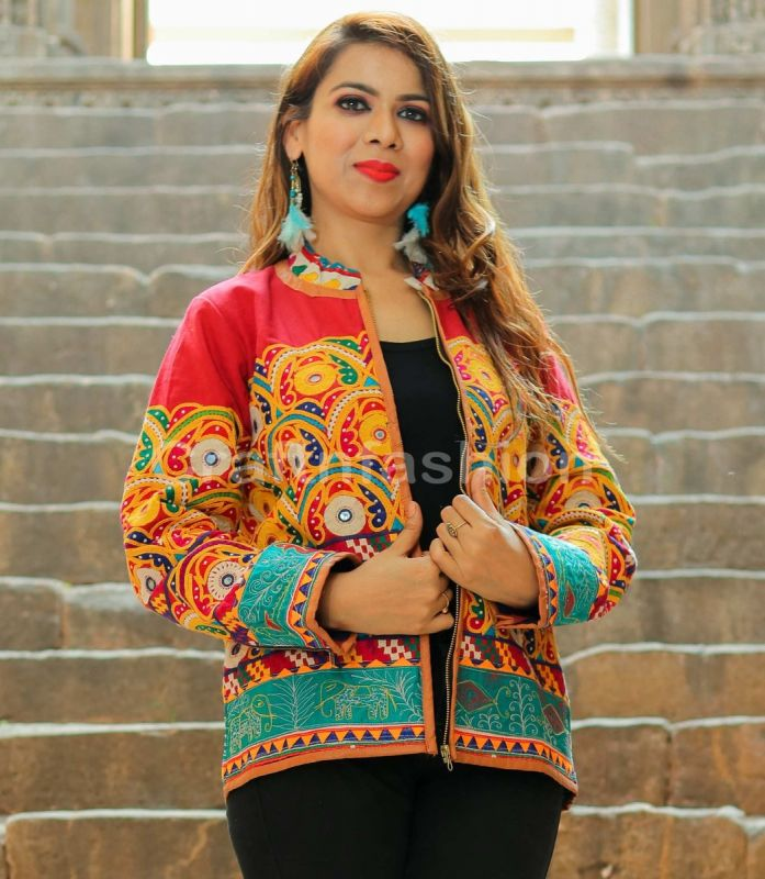 Gujarati Boho Embroidery Jacket