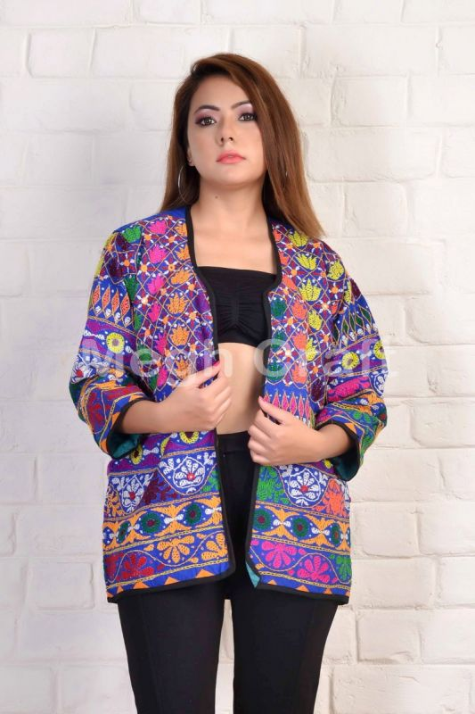 Bohemian Embroidery Jacket Waist