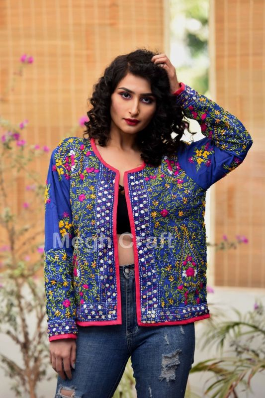 Phulkari Embroidery Fashion Jacket