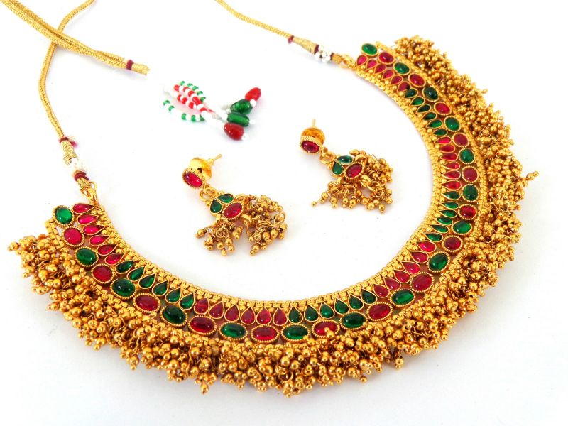 Multicolor Indian Jewelry Set