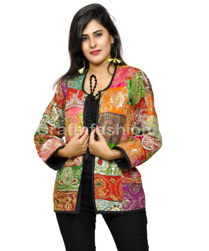 Boho Summer fashion Patch Work Jacket