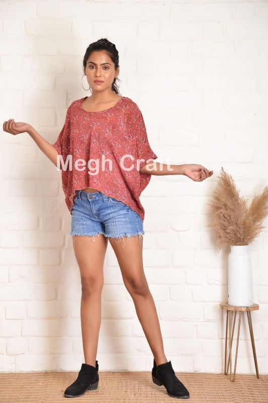 Latest Red Short Tunic Top