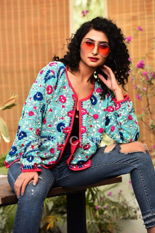 Hollywood Floral Embroidery Jacket