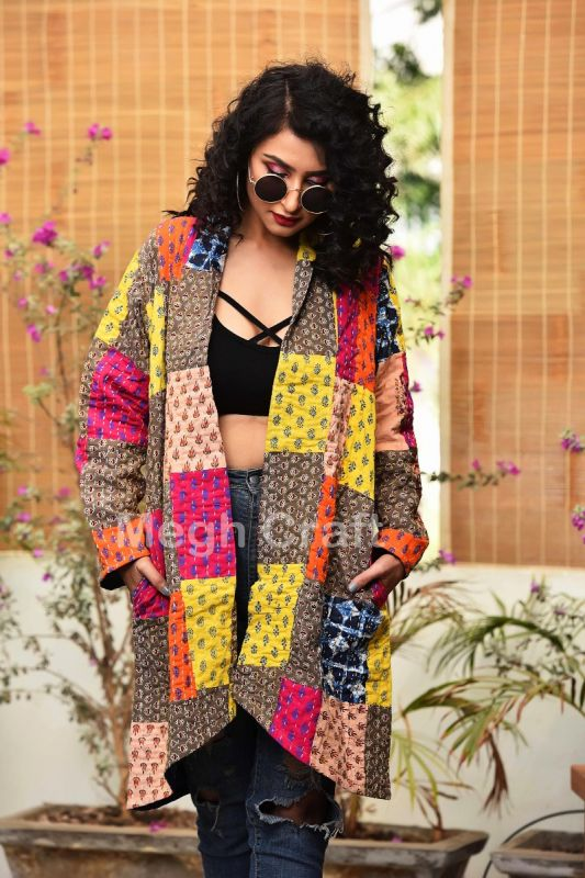 Patchwork Kantha Over Coat Jacket