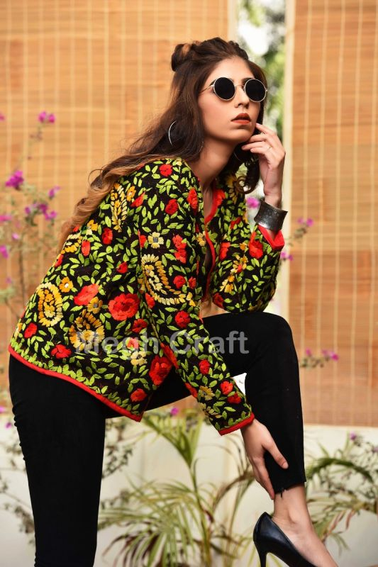 Floral Embroidery Boho Jacket