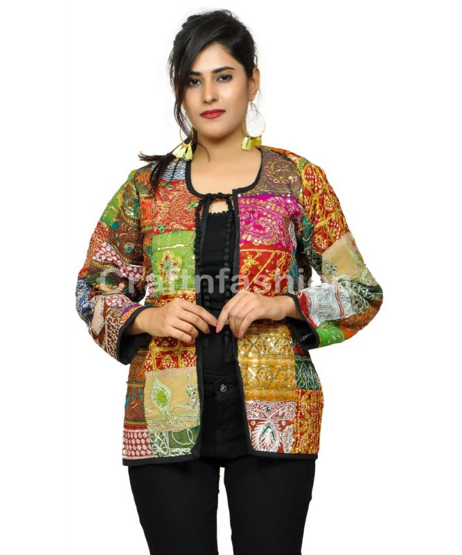 Boho Summer fashion Vintage Embroidery Patchwork Coat\jacket