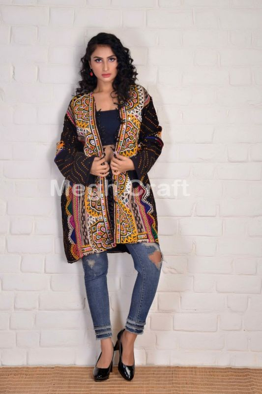 Gujarat Mirror Work Woolen Coat