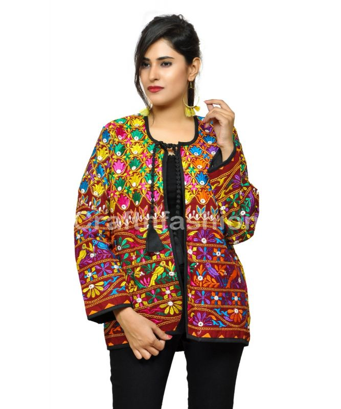 Boho Vintage Embroidery Patchwork Jacket