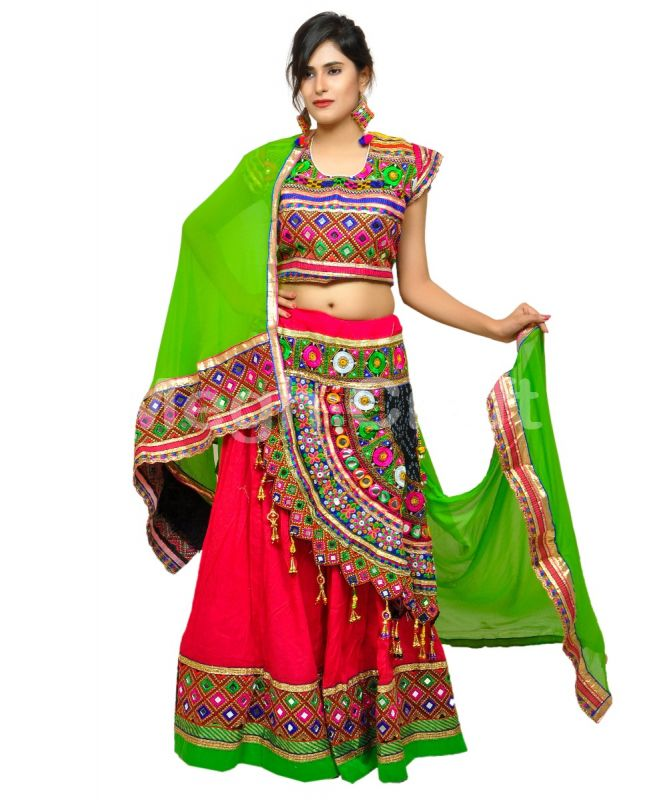 Pink Indian Traditional Garba Costume