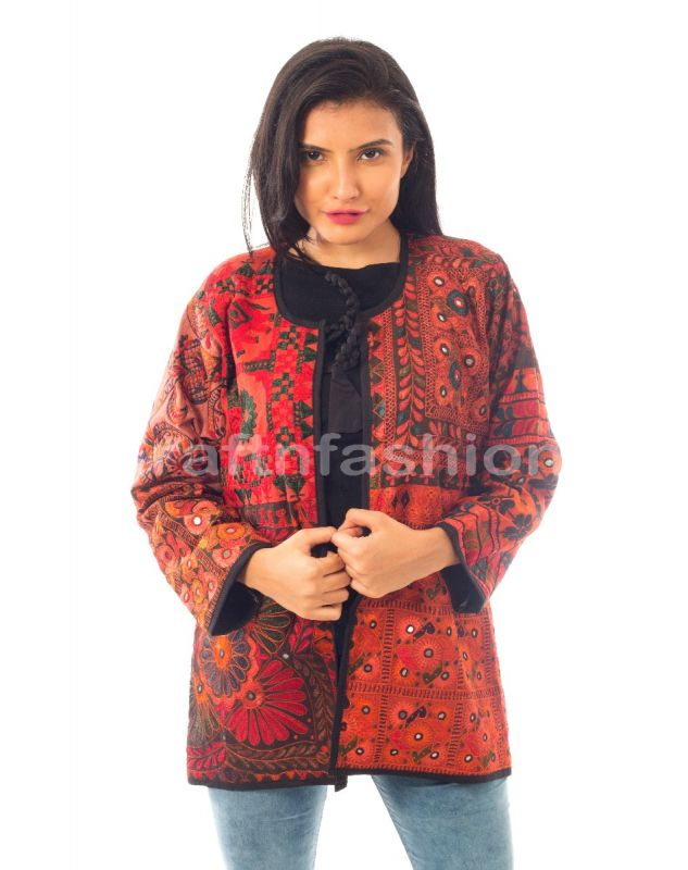Plus Size Embroidery Jacket