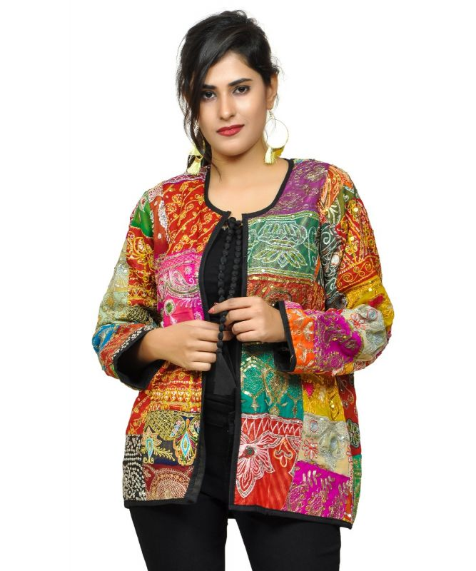 Vintage Embroidery Patchwork Jacket
