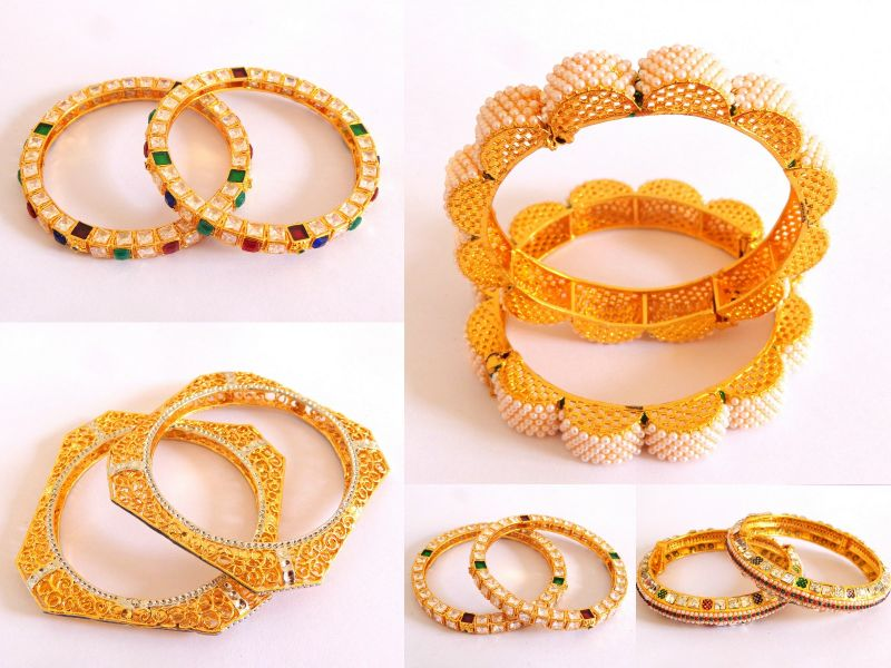 Exclusive Antique Pearl Bangles (Wholesale Lot 7 Pairs)