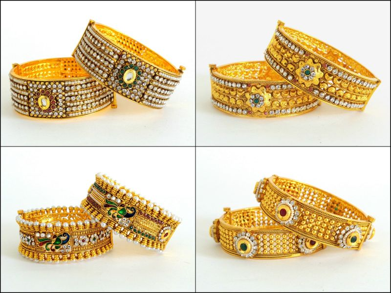 Exclusive One Gram Gold Bangles (Wholesale Lot 4 Sets)