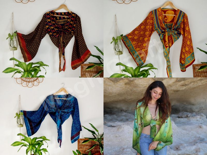 Wholesale Lot Of Block Printed Free Size Tie Top