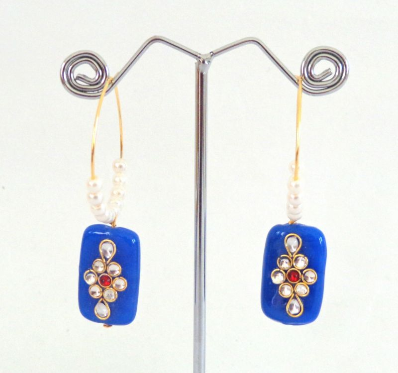 Fashion Stone Earrings-Blue