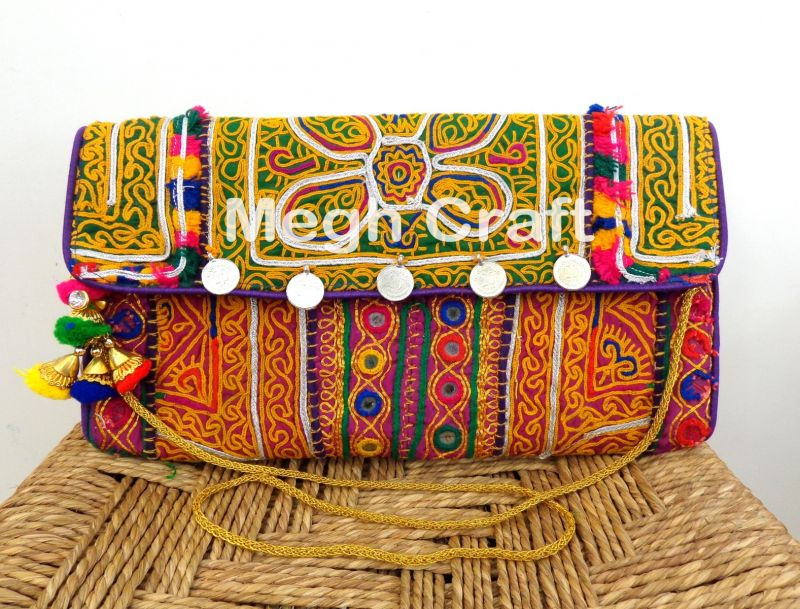Afghan Embroidery Clutch Purse
