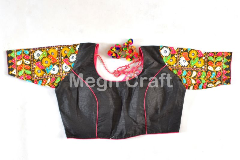 Black Indian Embroidered Blouse