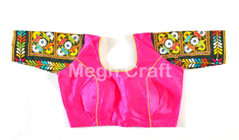 Pink Traditional Wear Blouse