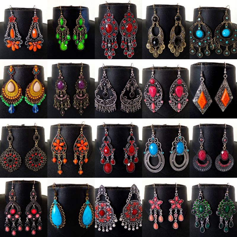 Victorian Style Fashion Earrings (Wholesale Lot Assorted Designs)