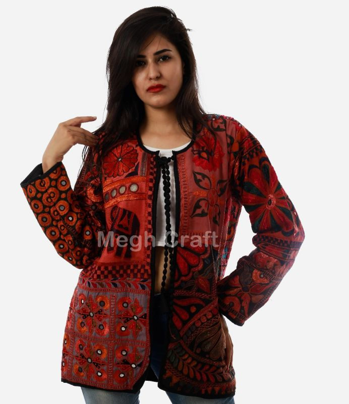 Ladies Boho Embroidery Jacket