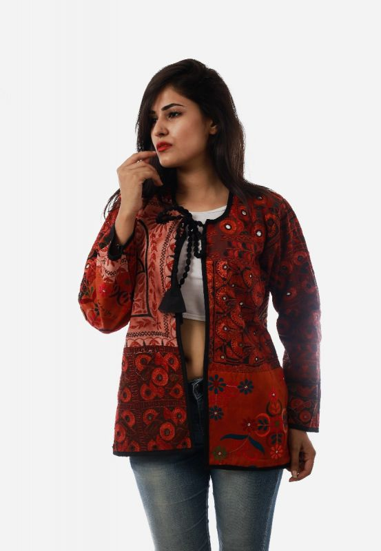 Ladies Bohemian Red Jacket