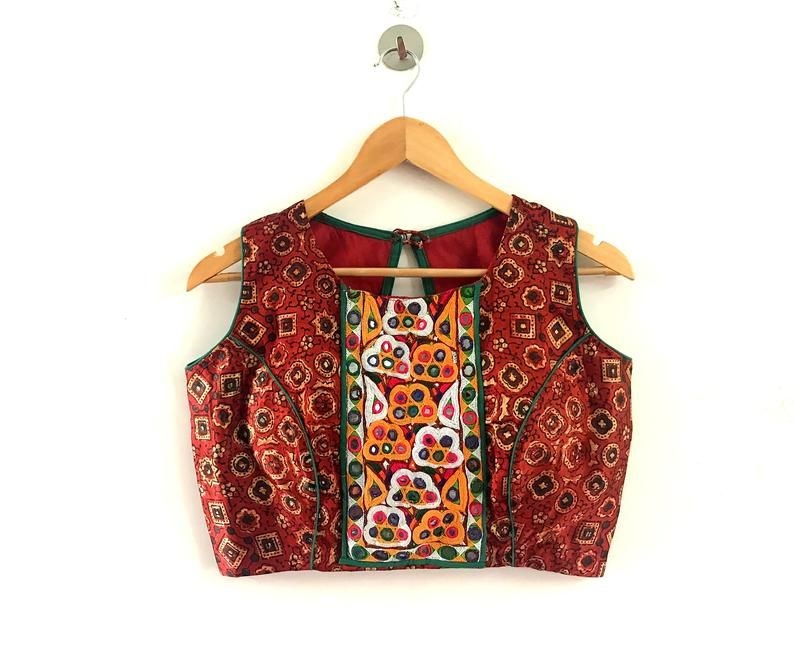 Kutch Hand Crafted Red Blouse