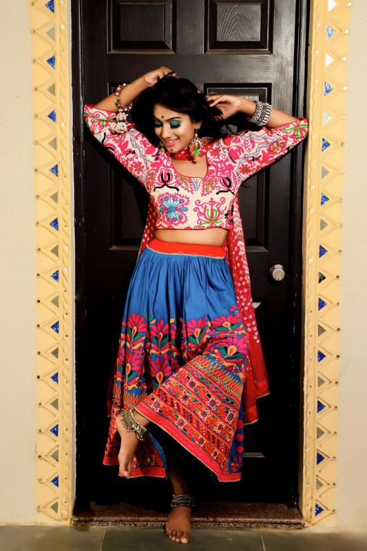 Kutch hand embroidery Skirt Blouse