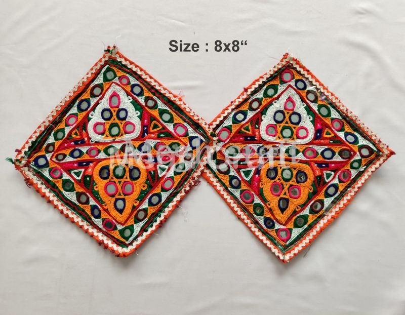 Traditional Square Embroidary Patches