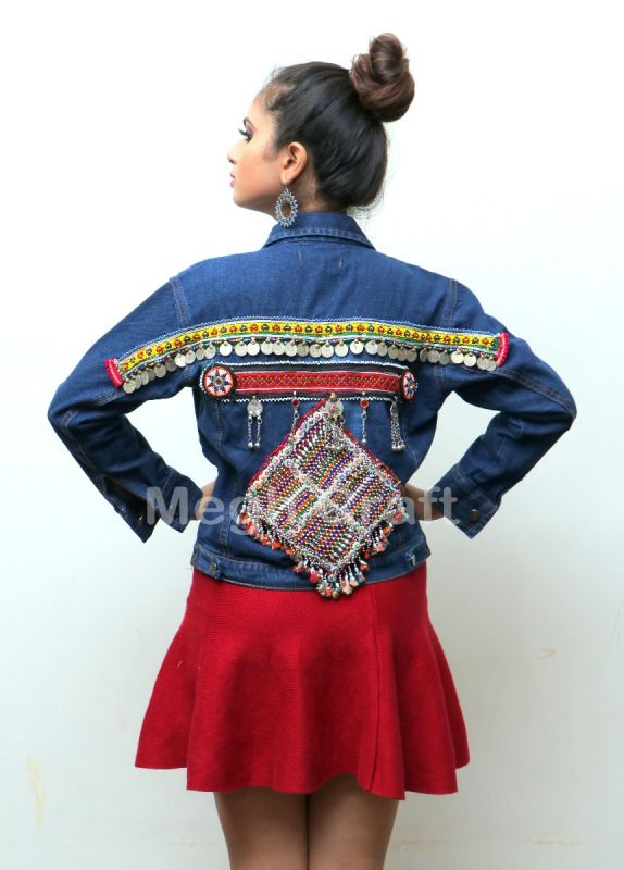 Vintage Beaded Denim Jacket