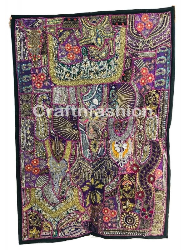 Antique Beaded Vintage Tapestry