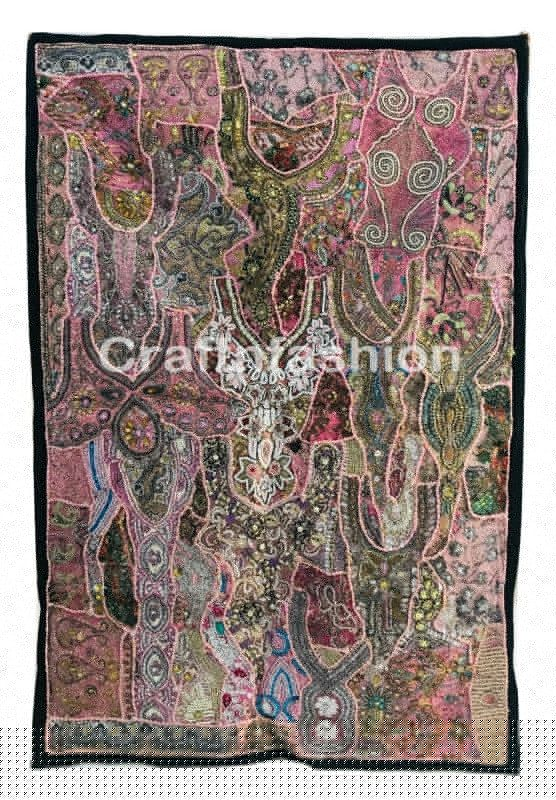 Pearl Sequin Patchwork Tapestry