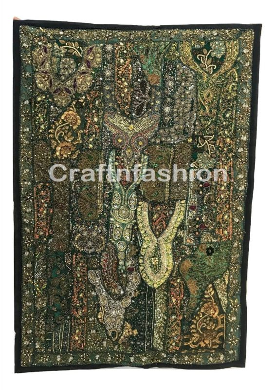 Bohemian style vintage beaded tapestry