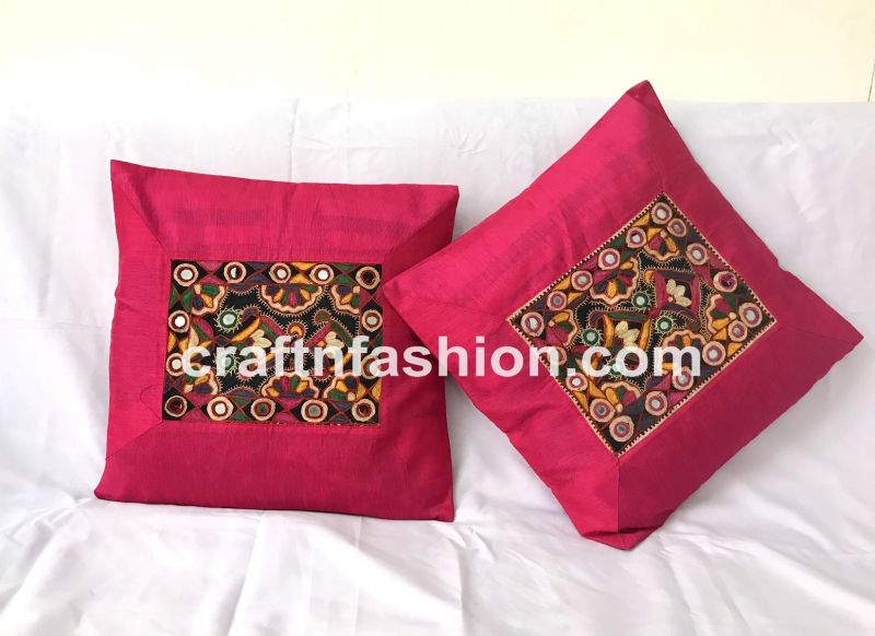 Kutch Embroidery Cushion Cover Pair