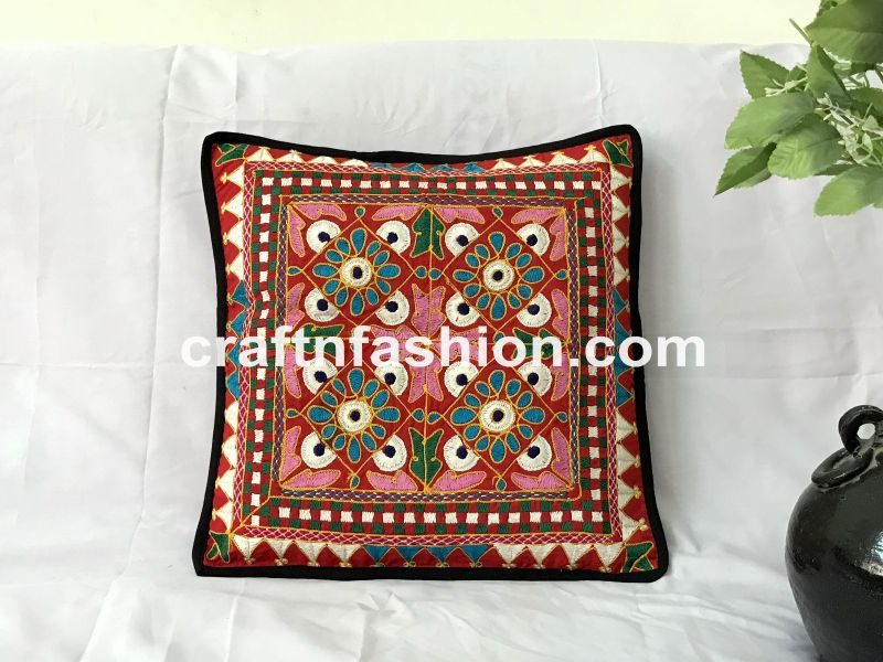 Decorative Embroidered Pillow Case