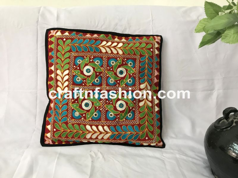 Floral Embroidered Pillow Covers
