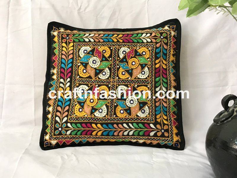 Multi Colored Vintage Cushion Cover