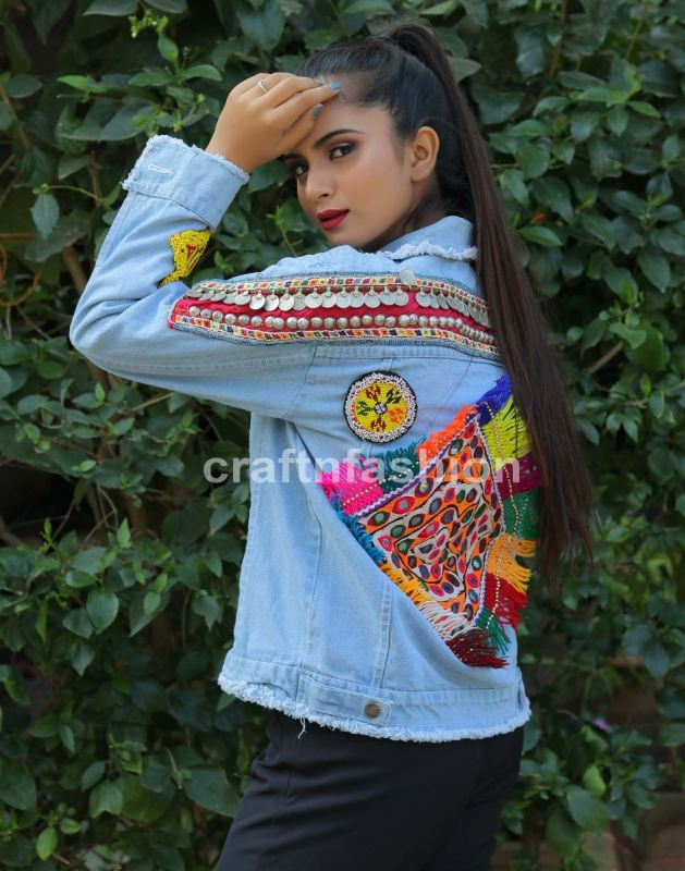 Indian Boho Patchwork Denim Jacket