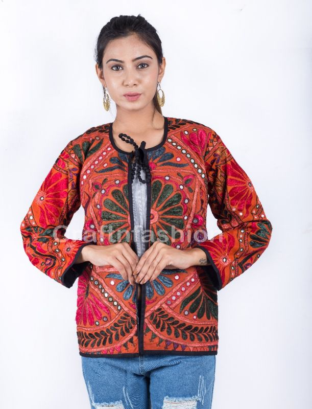 Boho Embroidery Jacket Coat