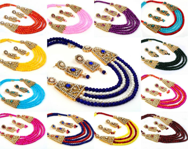 Bollywood Pearl Necklace Set (Wholesale Lot Mix Assorted)