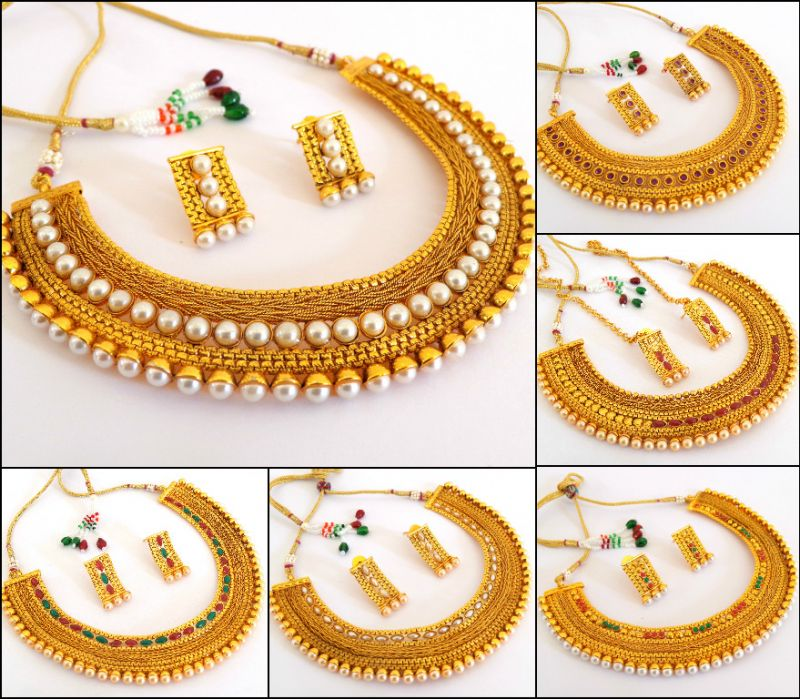 Wholesale Lot Indian Traditional Jewelry (10 Sets Mix)