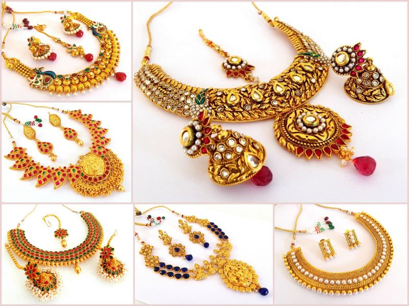 South Indian Style Bridal Jewelry (Wholesale Lot 6Sets)