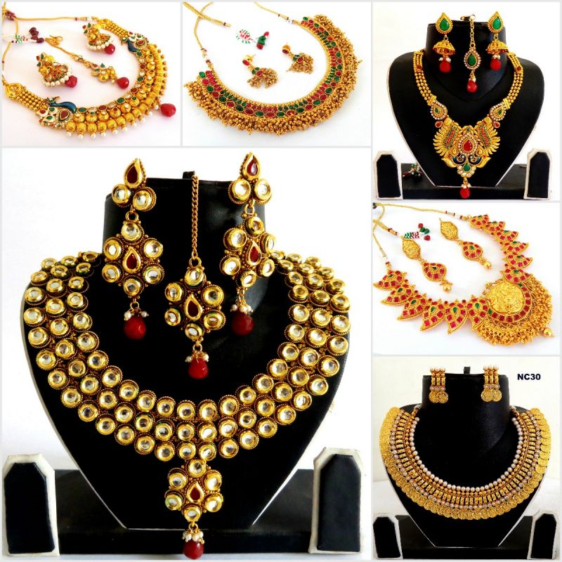 South Indian Jewellery Sets (Wholesale Lot 6 Sets)