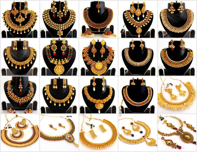 Wholesale Lot Indian One Gram Gold Jewellery (20 Sets Mix)