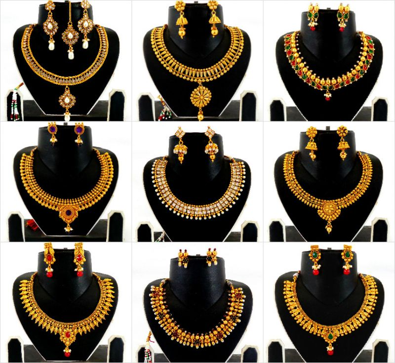 Designer Gold Plated Jewellery(Wholesale Mix Lot 20 )