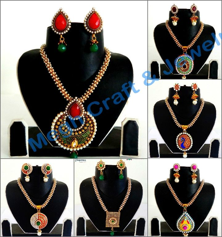Indian Pearl Necklace Set (Wholesale Lot 11 Sets Assorted Designs)