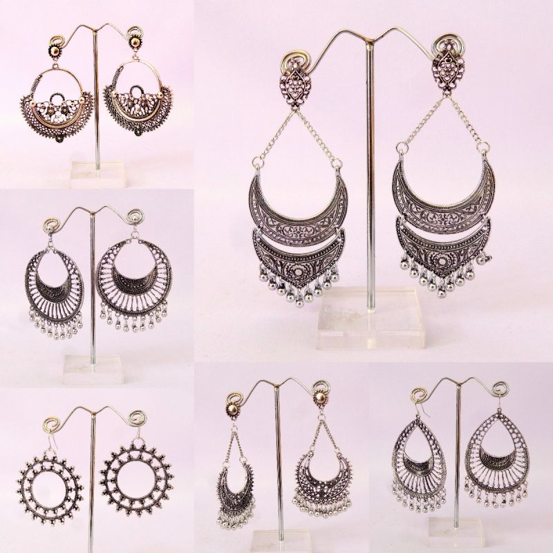 Designer Silver Earrings (Wholesale Lot Mix Assorted)