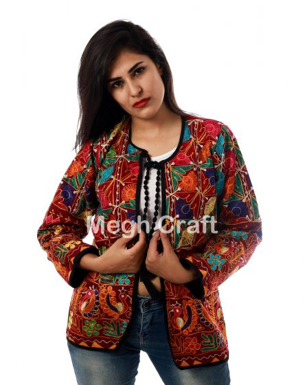 Floral Multicolored Jacket Coat