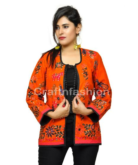 Boho Gypsy Indian patch Work Jacket