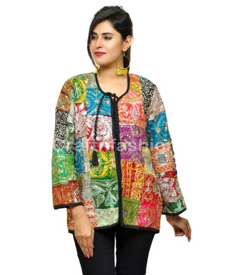 Boho Hippie  Fashion Handmade Patchwork Jacket